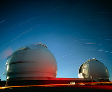 Keck I and II observatories on Mauna Kea, Hawaii
