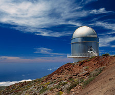 Dome of Nordic Optical Telescope in Canary Islands