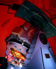 Time-exposure image of Nordic Optical Telescope