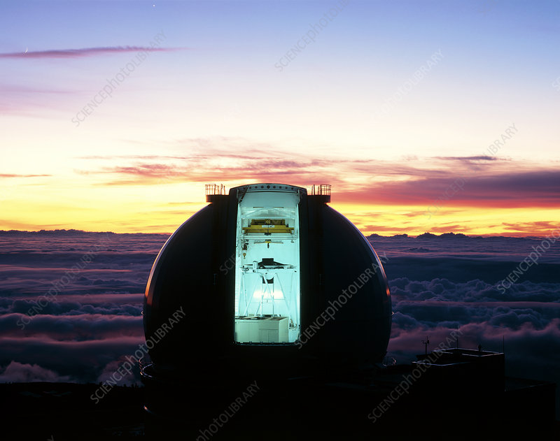 Dome of the William Herschel Telescope at dusk