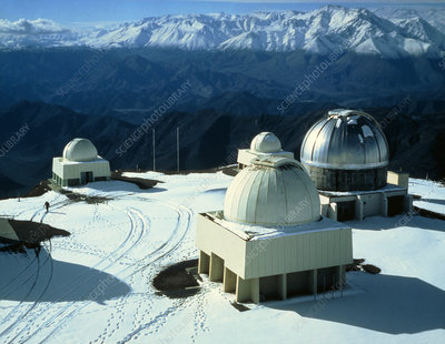 View of telescopes at Cerro Tololo Observatory