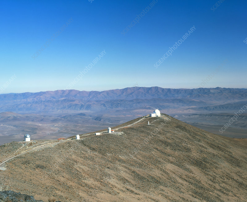 View of Las Campanas observatory, Chile