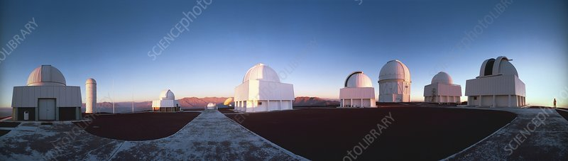 Panoramic view of the Cerro Tololo Observatory