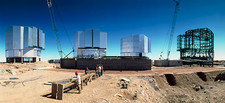 Very Large Telescope being built at Cerro Paranal