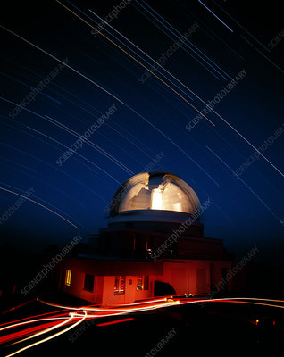 Time-lapse image of the UK Schmidt Telescope