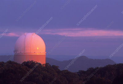 View of the Anglo-Australian Telescope at sunrise