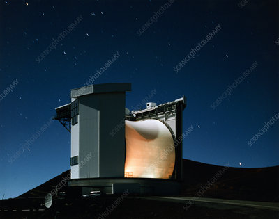 James Clerk Maxwell telescope at night, Mauna Kea