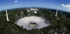 Upgraded Arecibo radio telescope with subreflector