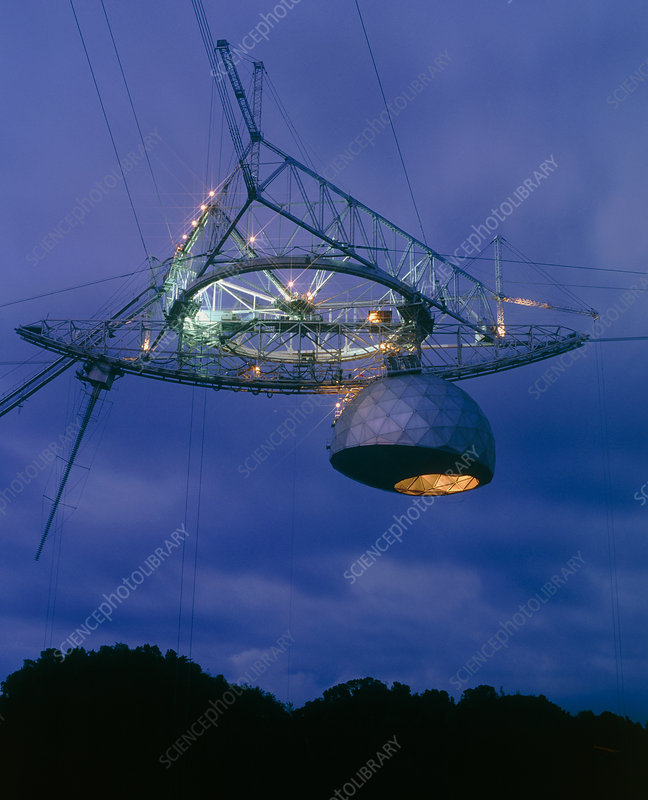 Radome of the upgraded Arecibo radio telescope