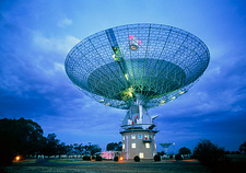 Evening view of Parkes radio telescope, Australia