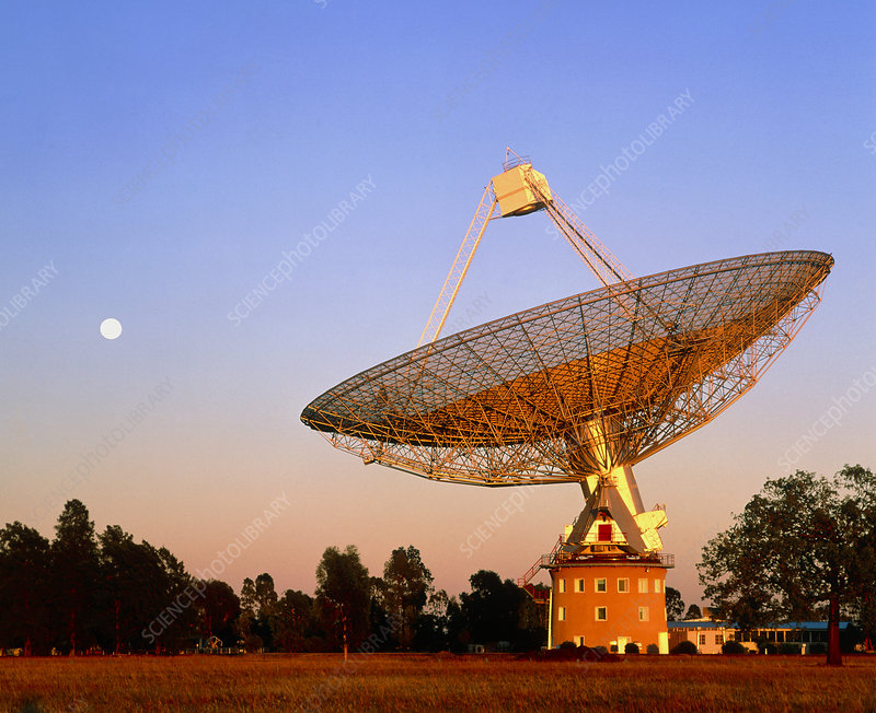 View of Parkes radio telescope, Australia