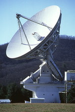 View of the radio telescope at Green Bank