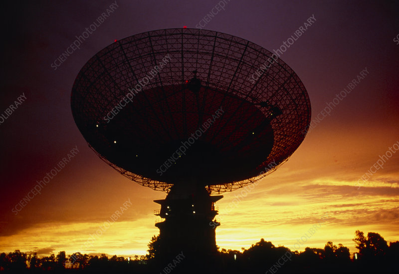 View of the Parkes radio telescope, Australia