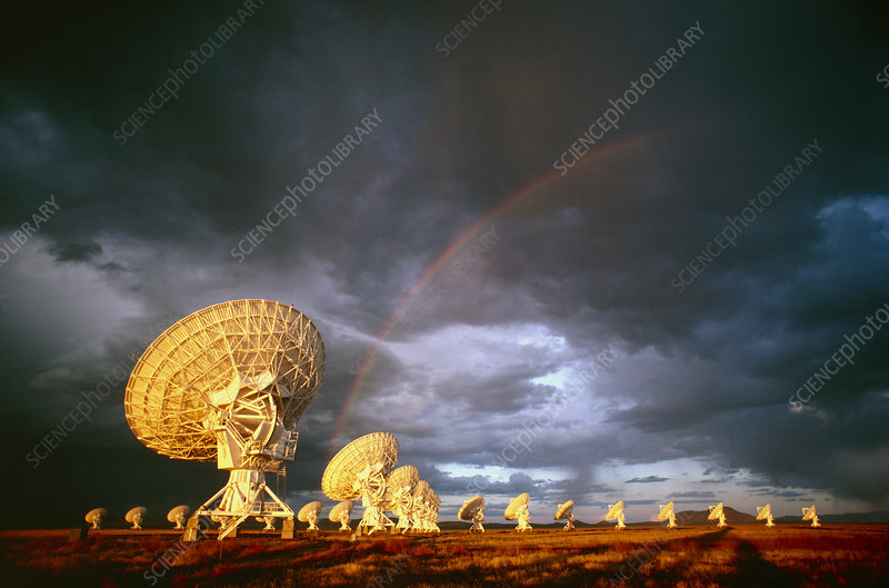 Antennae of the Very Large Array telescope