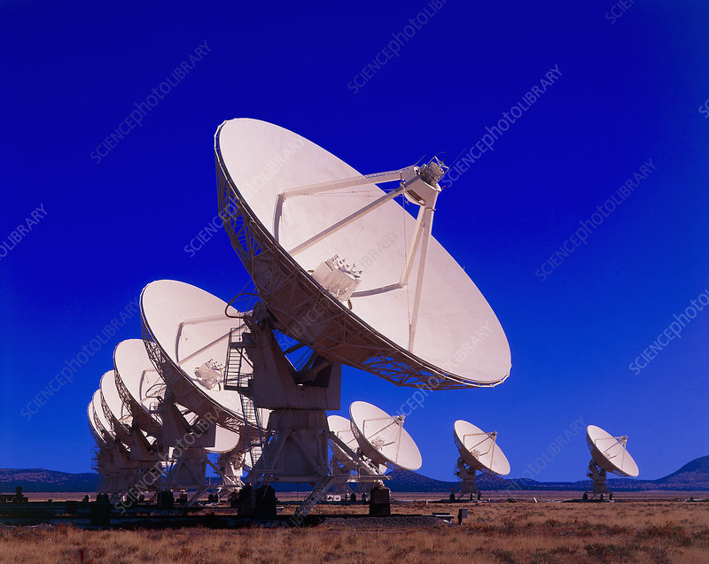 Very Large Array (VLA) radio antennae