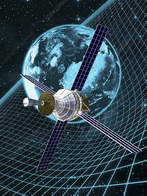 Gravity Probe B satellite, artwork