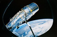 Deployment of Hubble Space Telescope from shuttle