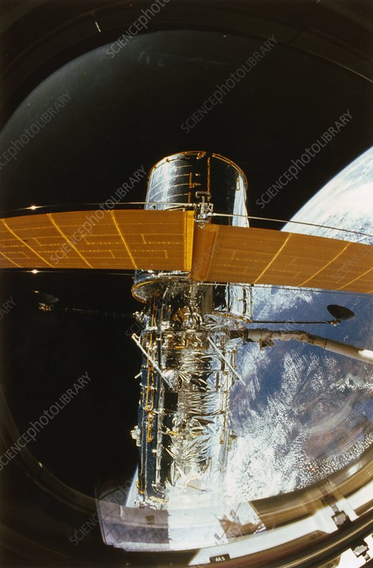 Hubble Space Telescope Deployment Stock Image R205 0121