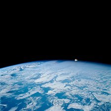 Hubble Space Telescope over Earth