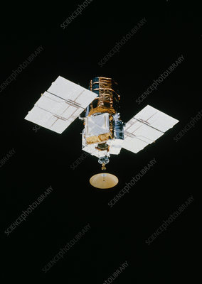 SMM satellite in space after repair