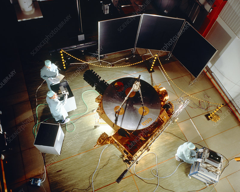 Ulysses spacecraft during testing at ESTEC