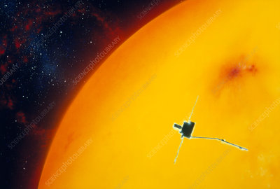 Artist's impression of Ulysses approacing the Sun