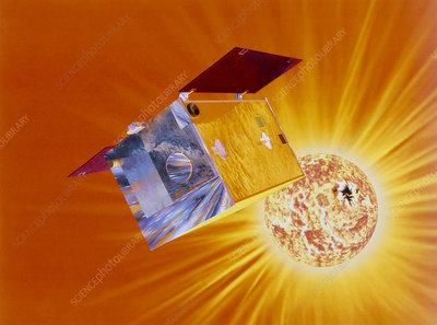 Artist's impression of Yohkoh satellite