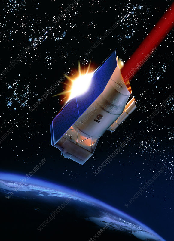 Artwork of Infrared Space Observatory spacecraft