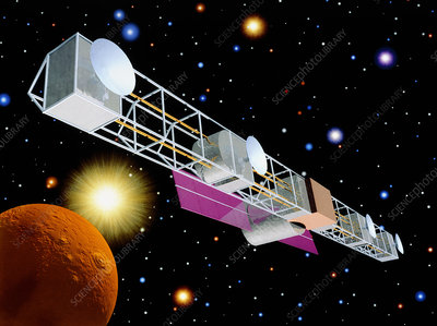 Artwork of the ExPNS infrared astronomy spacecraft