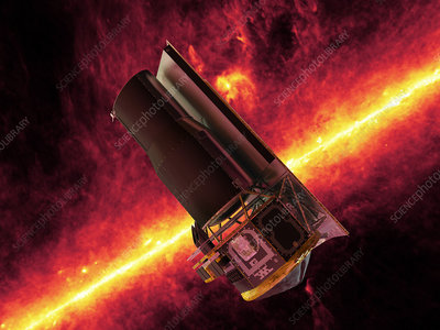 Spitzer Space Telescope, artwork