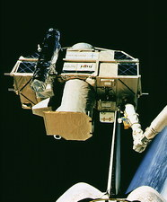 ORFEUS-SPAS satellite after retrieval, STS-51