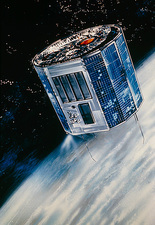 Artist's impression of Ariel-5 satellite in orbit
