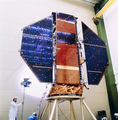 ROSAT satellite in checkout building