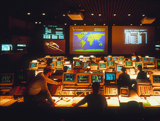 View of ROSAT satellite control room