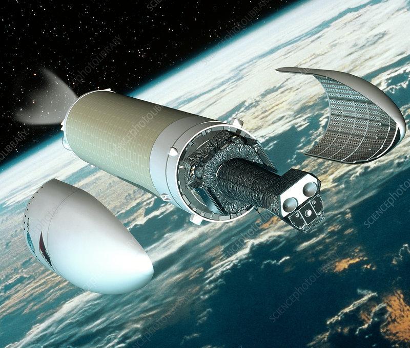 XMM-Newton telescope deployment - Stock ...