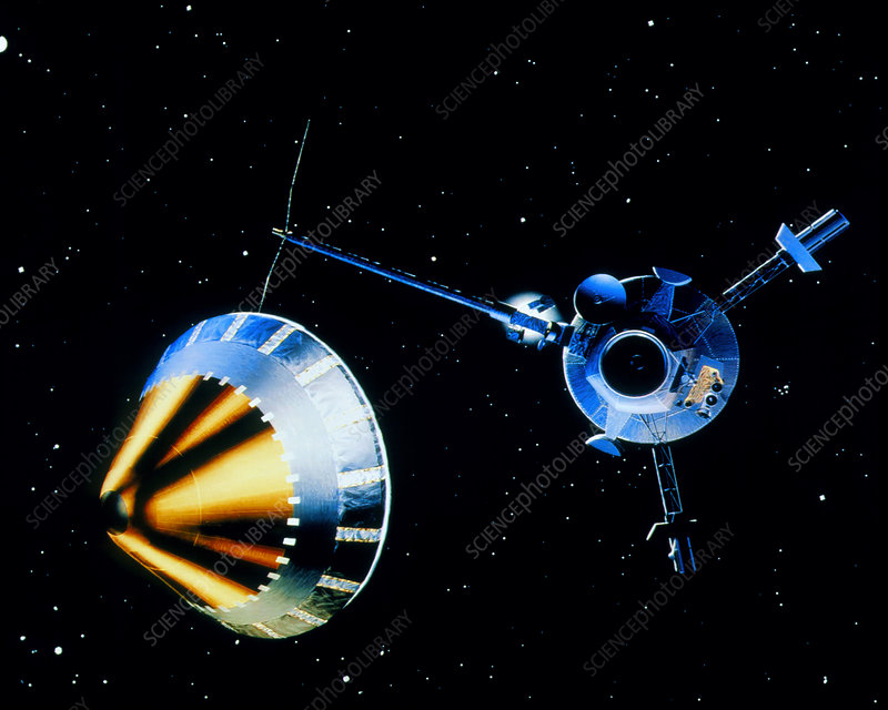 Galileo spacecraft and Jupiter probe