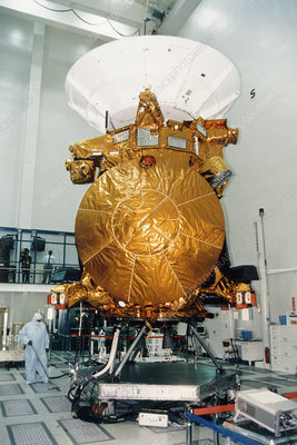 Fully-completed Cassini spacecraft during checks