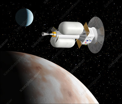 Artwork of a Pluto Kuiper Express spacecraft
