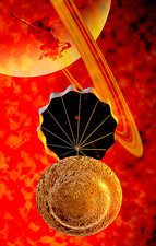 Huygens probe, descent to Titan