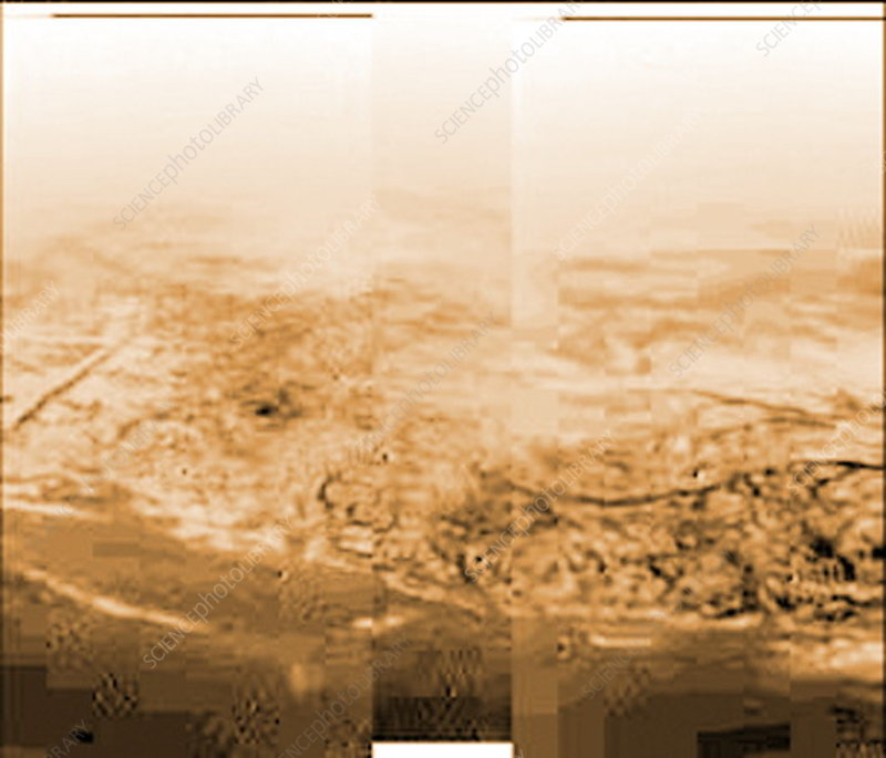 View of Titan from Huygens
