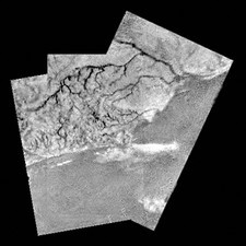 Titan seen from Huygens