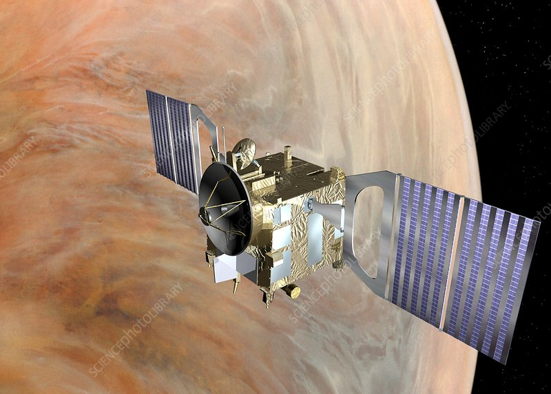 Venus Express spacecraft orbiting Venus