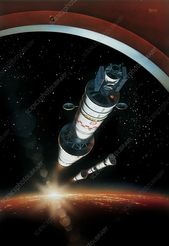 Artists impression of manned expedition to mars