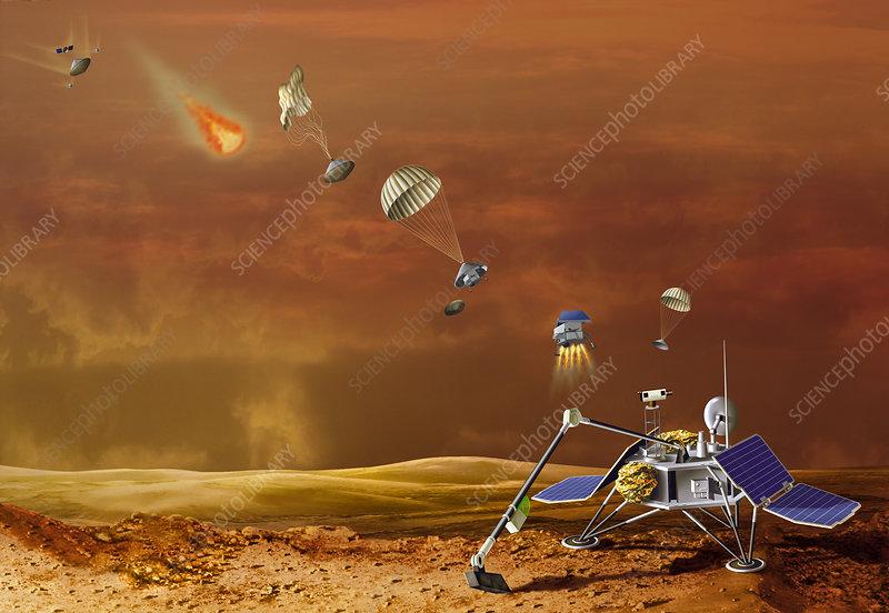 the exploration of the mars polar lander Chronology of mars exploration mission timeline 1960 marsnik 1 (mars 1960a)  attempted mars orbiter 1999 mars polar lander - 3 january 1999 .