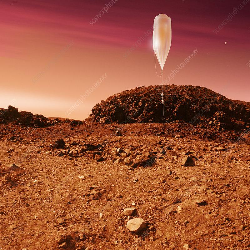 mars landing with balloons - photo #10