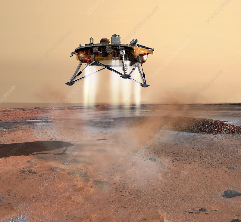 Phoenix spacecraft landing on Mars