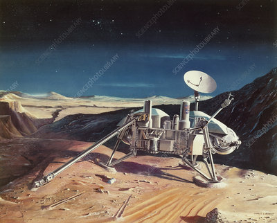 Artist's impression of Viking Mars lander