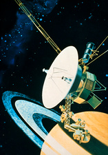 Voyager 1's encounter with Saturn