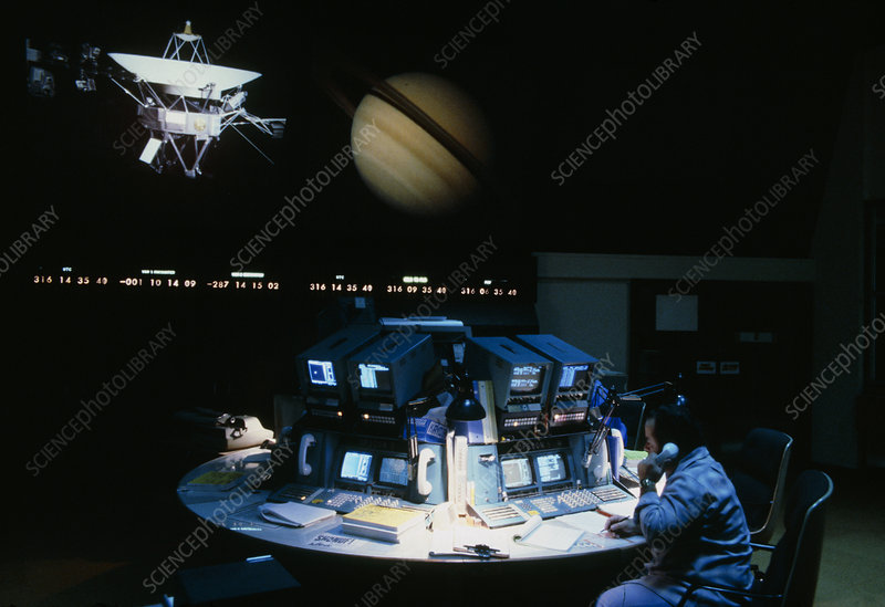 Voyager 1 mission control during Saturn encounter