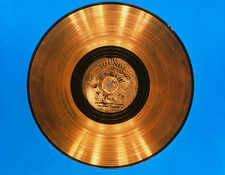 'Sounds of Earth' record before storage on Voyager